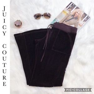 Juicy Couture Burgundy Velour Pants